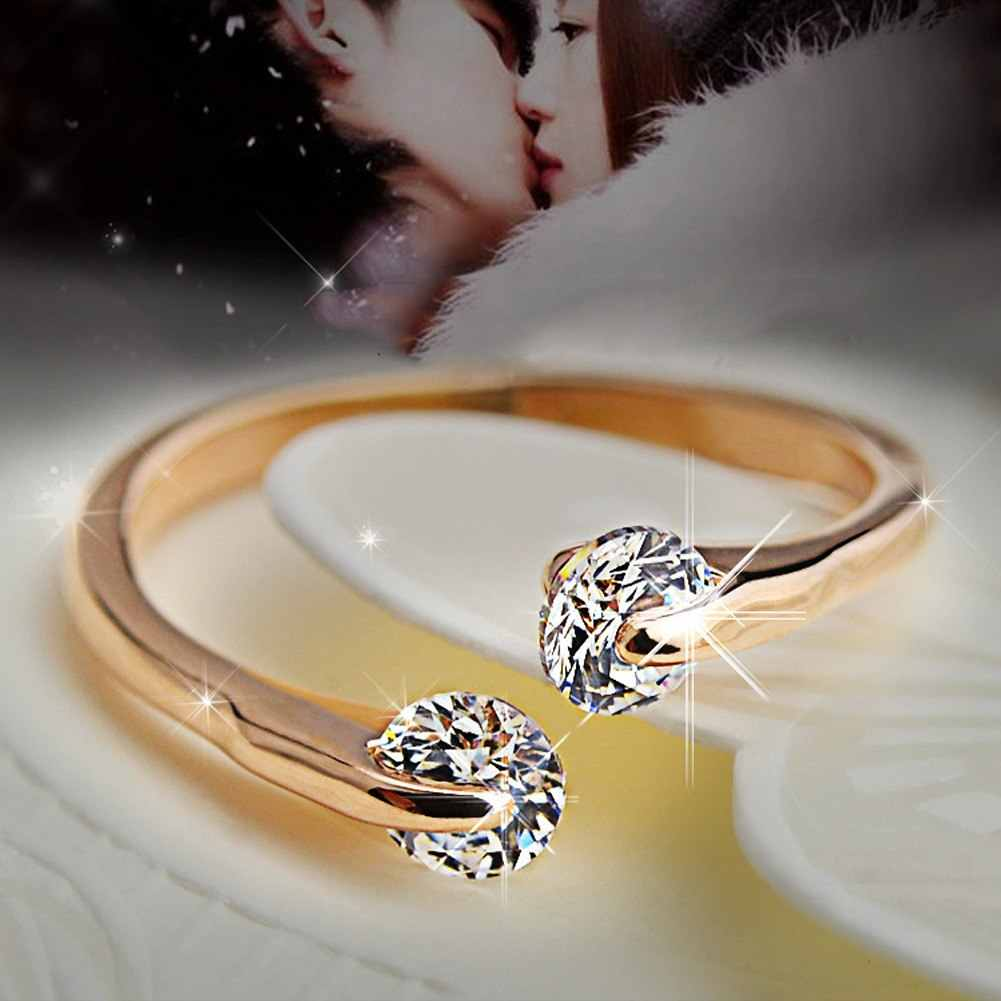 New Fashion Women's Ring Opening Can Be Adjusted Jewelry Gifts  Color Drop Shipping