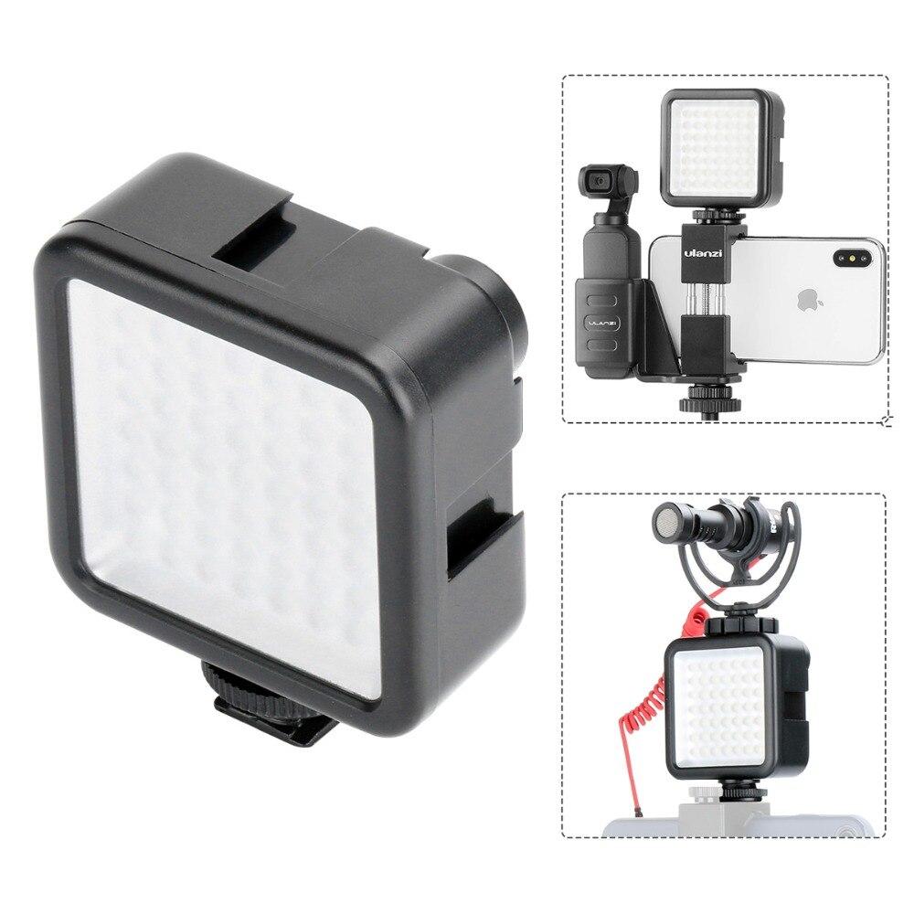 Poche sur appareil photo Mini LED lumière vidéo photographie lumière de remplissage 3 support de chaussure chaude pour DJI Osmo poche Nikon Sony A6400 DSLR cardans