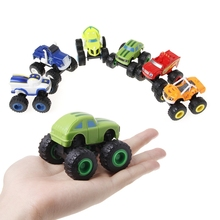 Top Selling 6Pcs/set Blaze Vehicles Racer Cars Trucks Gifts For Kids Diecast Toys Machines
