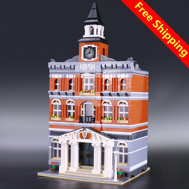 2017 LEGOingly 15003 new 2859Pcs The topwn hall Model Building Blocks Kid Toys Kits compatible Educational Children day Gift new lepin 15003 2859pcs the topwn hall model building blocks kid toys kits compatible with 10224 educational children day gift