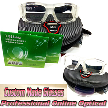 optical Aspherical 1.55 resin lens+frame anti-impact basketball volleyball football soccer nearsighted myopia sports goggle