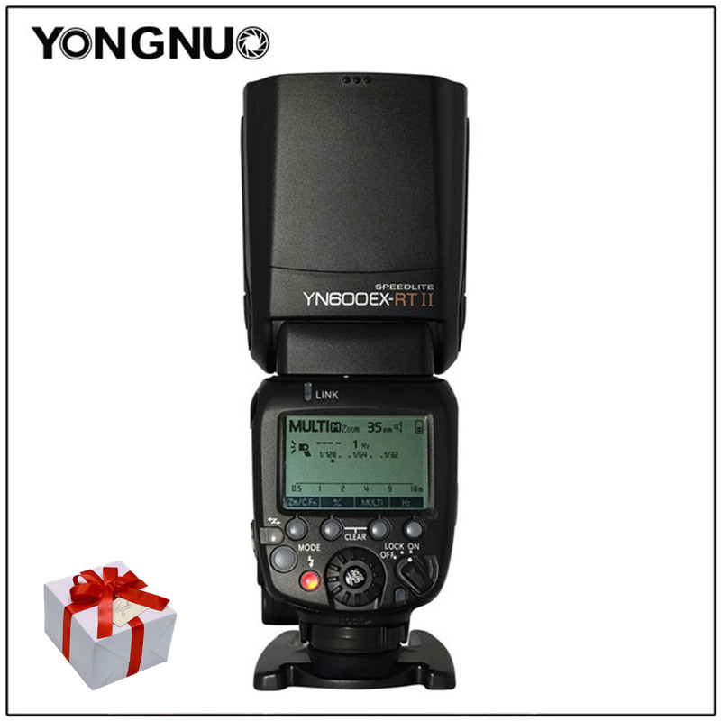 YONGNUO YN600EX-RT II 2.4G Wireless HSS 1/8000s Master TTL Flash Speedlite for Canon 60D 650D Camera as 600EX-RT YN-600EX RT II yongnuo yn e3 rt flash speedlite transmitter suit for canon 600ex rt as st e3 rt