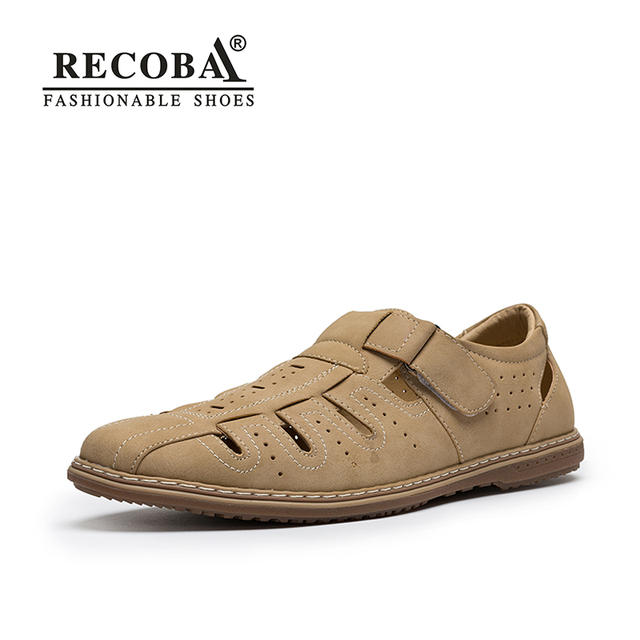 Men Sandals Shoes Fretwork Breathable Fisherman Shoes Style