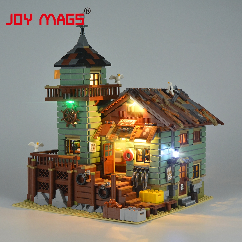 JOY MAGS Led Light Kit (Only Light Set) For Old Fishing Store Block Compatible with Lego 21310 16050 Lighting Set joy mags only led light set building blocks kit light up kit for creator series f40 car compatible with lego 10248 21004