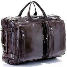 Модная многофункциональная Дорожная сумка из натуральной кожи с натуральным лицевым покрытием, мужская кожаная сумка для багажа, дорожная сумка, большая сумка-тоут, сумка для выходных