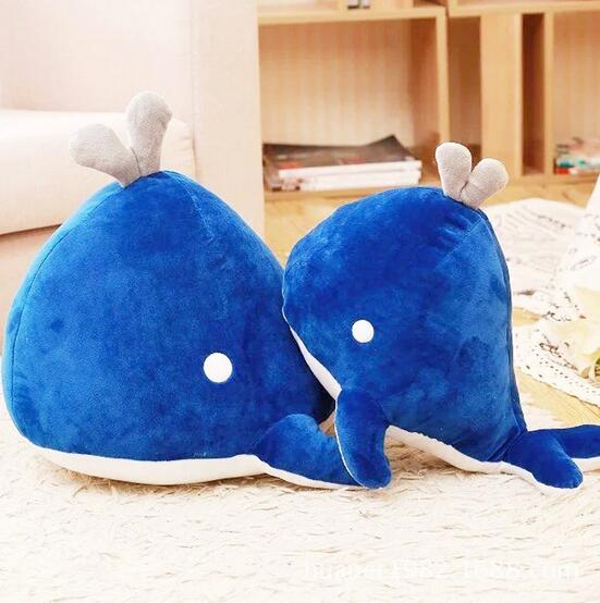 Whale dolls pillow creative dolphins plush toys children dolls appease dolls birthday gift whale adventure