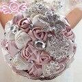 Великолепные Свадебные Цветы Свадебные Букеты Элегантный Перл Невесты Невесты Свадебный Букет Кристалл 2017