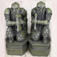 LOTR The Hobbit The Desolation of Smaug Resin Statue Bookend Sculpture Decoration Book Holder Lonely Mountain dwarf