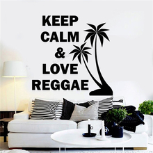 Wall Decoration Keep Calm Love Reggae Quotes Room Decal Vinyl Art Poster Removeable Mural Music Rastafari Sticker LY303 wall sticker how can i say i love you quotes decoration for livingroom bedroom poster vinyl art removeable mural ly609