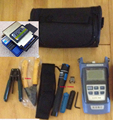 14 In 1 Fiber Optic FTTH Tool Kit with FC-6S Fiber Cleaver Optical Power Meter 10Mw Visual Fault Locator