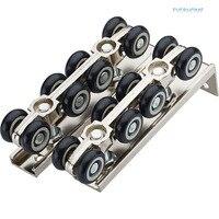 Sliding door roller hanging pulley hanging mute rail wheel balcony sliding door 8 wheels,one pair per set