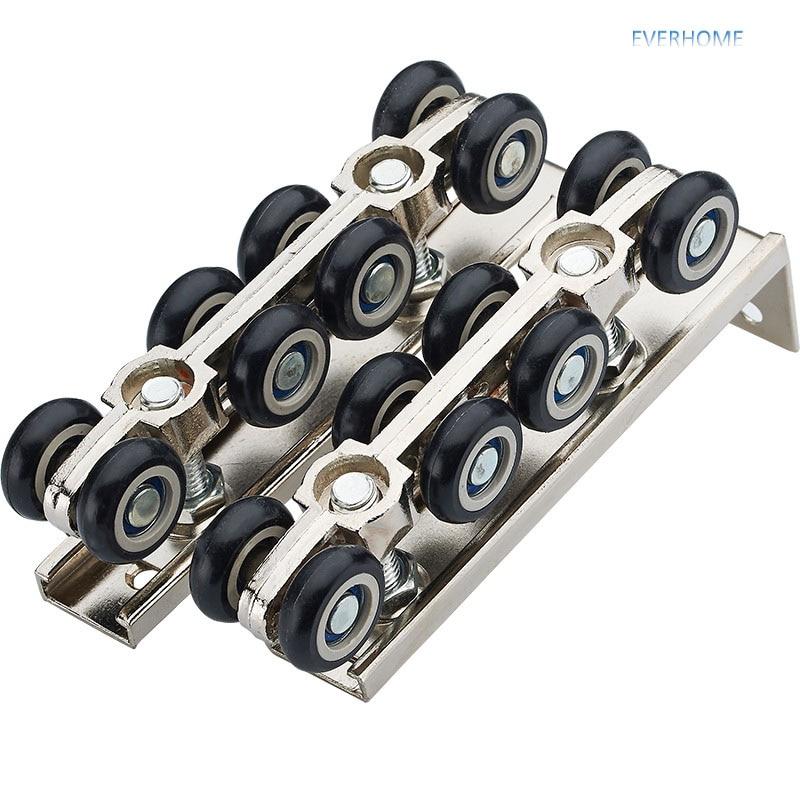 Rouleau de porte coulissante poulie suspendue roue de rail muet balcon porte coulissante 8 roues, une paire par ensemble