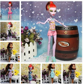 5Set/Lot 2015 Baby Girl Birthday Gift Original Fashionable Casual Dress Doll Clothes Set Monster Doll Clothing
