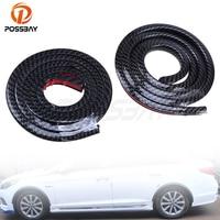 2 Pcs 1 5m Imitation Carbon Fiber Wheel Lip Car Protect Decoration Strip Mudguards Mud Guard