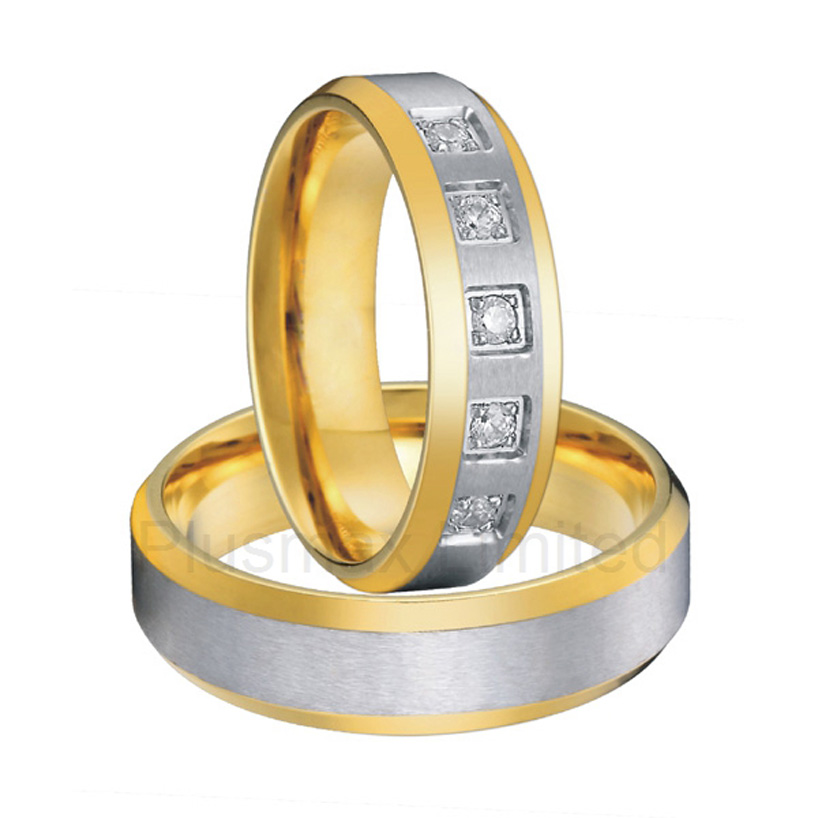 alliances China factory made for each other beautiful titanium steel engagement wedding rings alliances china wholesaler simple classic designs two tone classic domed titanium wedding band rings