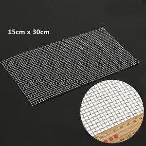 Image 4 - 5/8/20/30/40 Mesh Geweven Draad Hoge Kwaliteit Roestvrij Staal Screening Filter Vel 15x30 cm