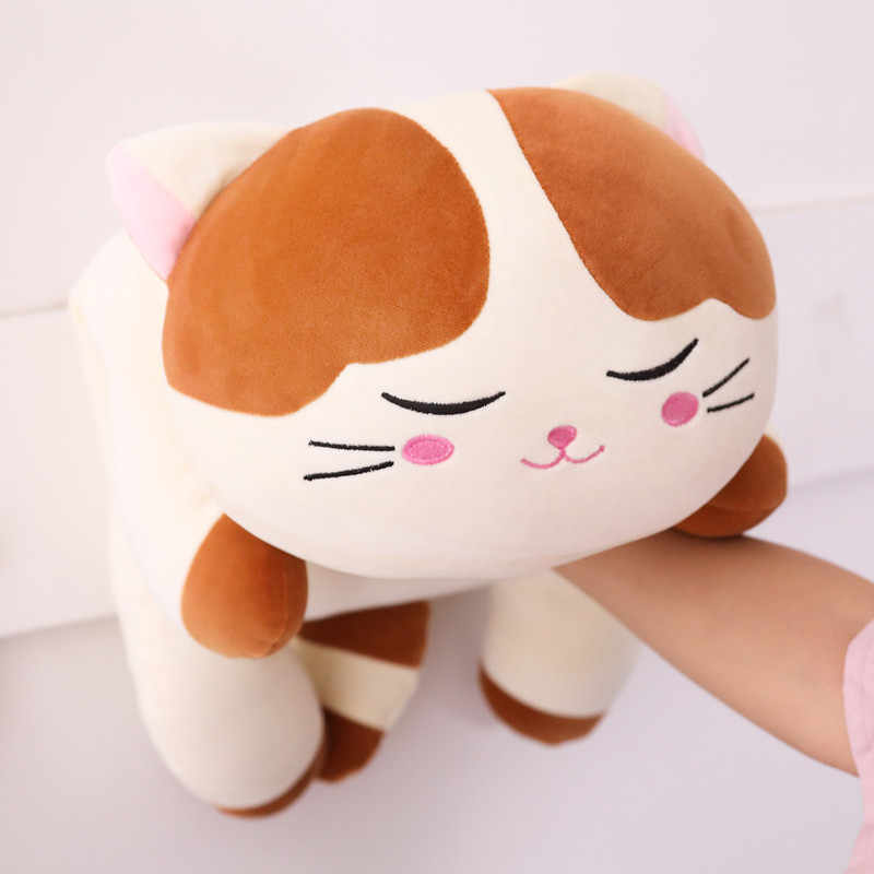 Yeni Yaratıcı Noel Peluş Kedi Oyuncak Çocuk Yumuşak Doldurulmuş Aşağı Pamuk Yastık Karikatür Hayvan Çocuklar Bebek Bebek doğum günü hediyesi