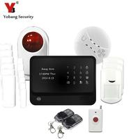 YobangSecurity Home Safety Touch Screen GSM WIFI Wireless Alarm System with Strobe Siren Smoke Sensor Panic Button for the Elder