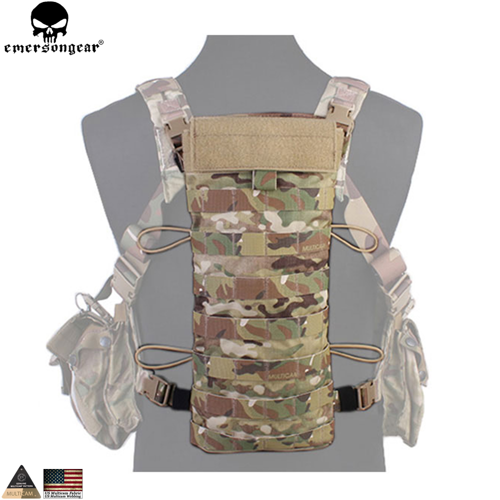 EMERSONGEAR Hydration Back Panel Hiking Camping Water Bag 2.5L Hydration Military Army Tactical Water Pouch Bag Multicam EM5815