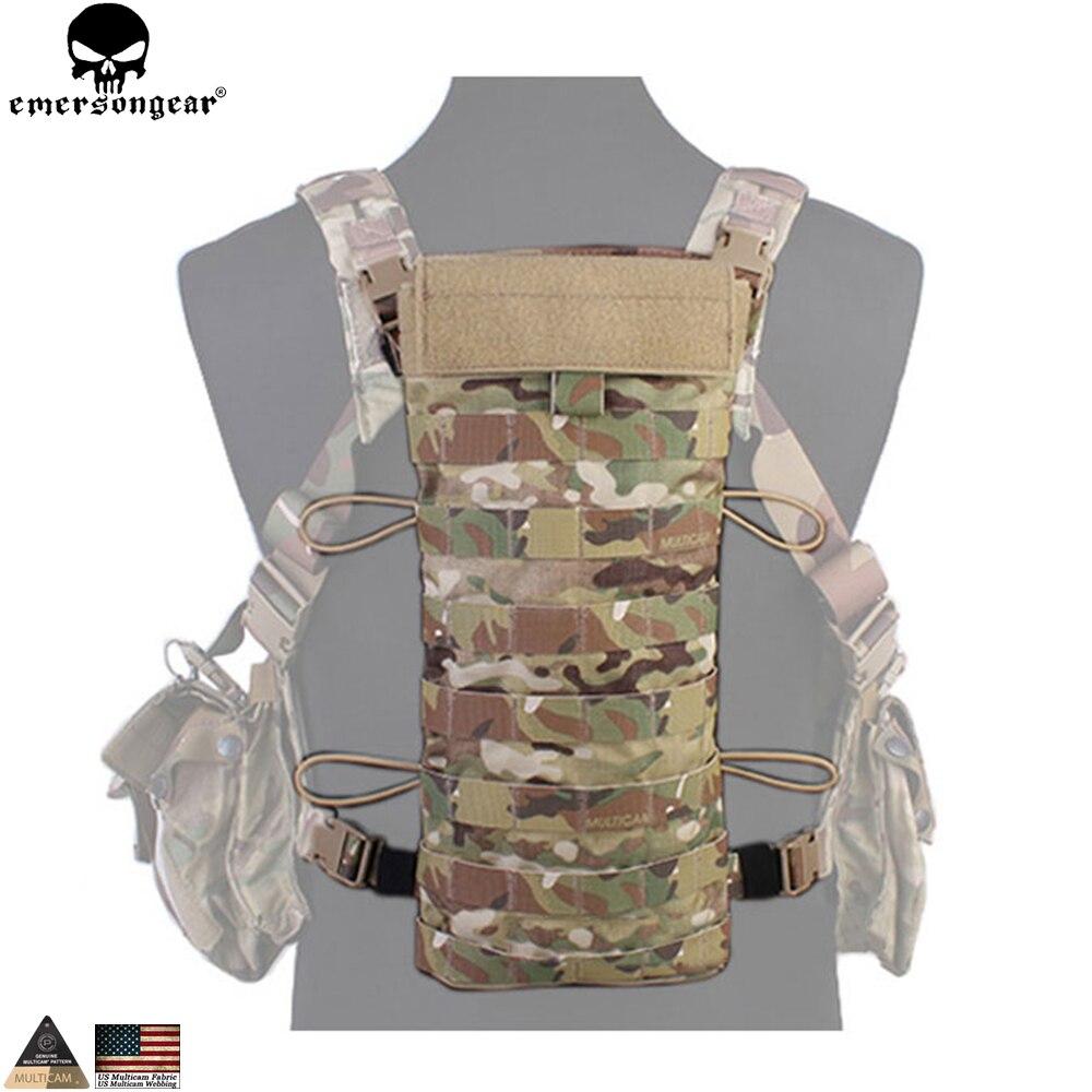 EMERSONGEAR hydratation panneau arrière randonnée Camping sac d'eau 2.5L hydratation armée militaire tactique poche à eau sac Multicam EM5815