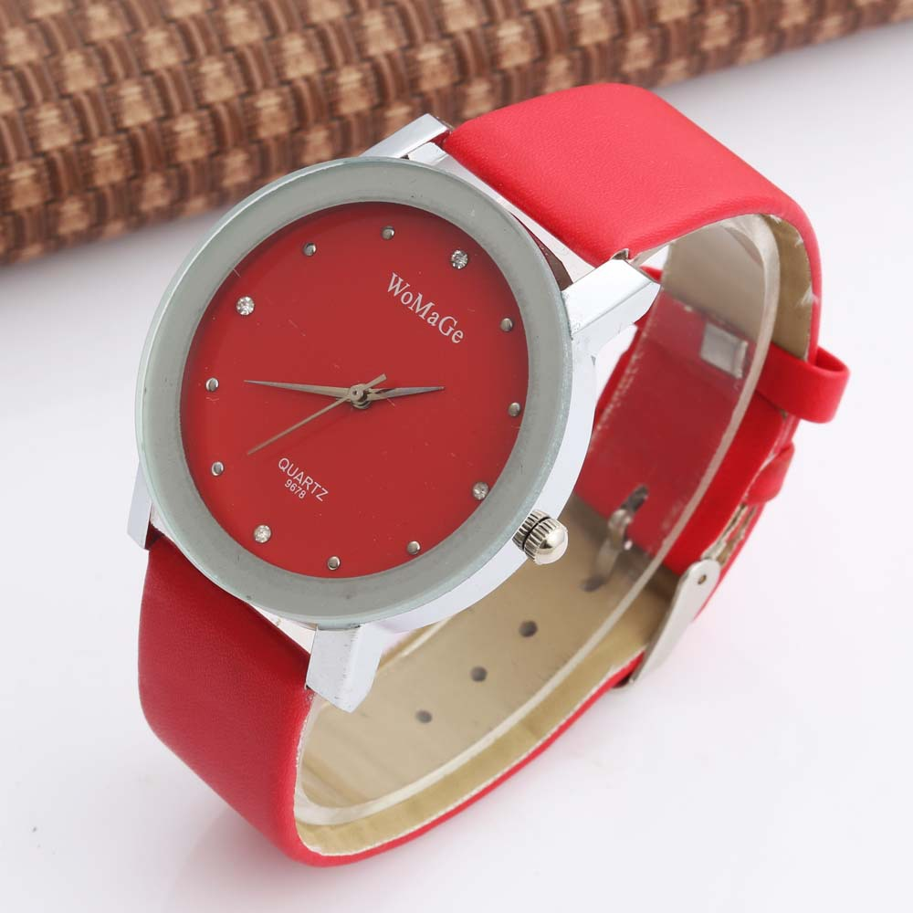 Mens Woman Unsex Luxury Womage Brand Fashion Casual Business Leather Strap Analog Watch Simple Quartz Wristwatch Men Relogio