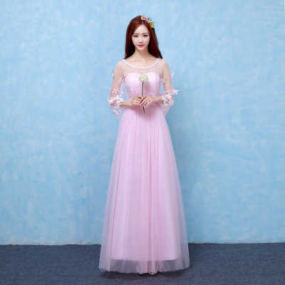Sweet Memory Three Quarter Pink bridesmaid dresses real photo performance wedding  party dress SW180419 90c836b512bf