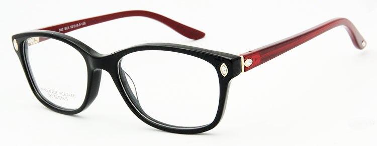 ESNBIE Италия дизайн рамки очки для женщин Роскошные Алмаз оригинальное качество близорукость компьютер Oculos де Грау Femininos бренд - Цвет оправы: frame glasses BKRD