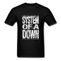 SYSTEM OF A DOWN T Shirt Cotton Short Sleeve Men S T Shirt Hipster Plain XXXL