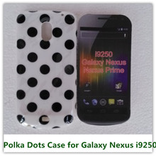 1PCS White Polka Dots Soft TPU Candy Skin Pouch Back Cover Case for Samsung Galaxy Nexus i9250