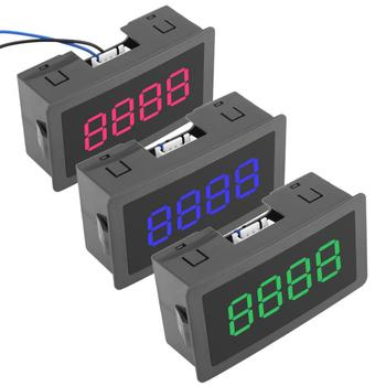 цена на VBESTLIFE DC LED Digital Counter 4 Digit 0-9999 Up/Down Plus/Minus Panel Counter Meter with Cable medidores electronicos
