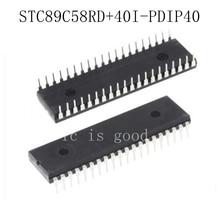 10PCS STC89C58RD+40I-PDIP4 STC89C58RD+40I-PDIP40