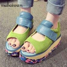 Multicolor Women Casual Shoes Platform Creppers Fashion Soft Leather Peep Toe Flat Shoes Woman Ballet Flats Espadrilles