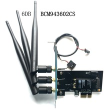 antennas 802.11+Bluetooth 4.1 Broadcom BCM943602CS wireless wifi Card For Desktops with mini pci-e to PCI-E 1X Adapter(China)