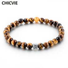 Chicvie тигровый глаз бусины мужские браслеты и из натурального
