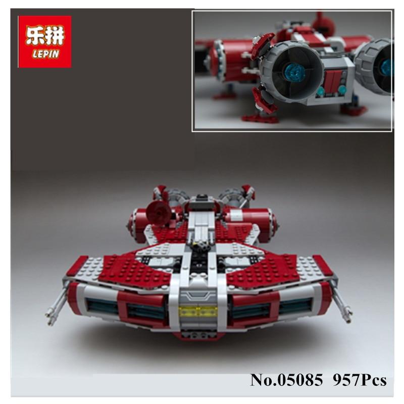 H&HXY IN STOCK LEPIN 05085 957Pcs The Jedi Defender Class Cruiser Set Building Blocks Bricks Toys Model Gift 75025