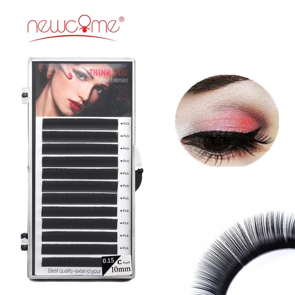 NEWCOME 1cases,All Size Individual Eyelash Extension Curl BCD Fake Eyelash Extensions Korea Silk Mink Lash Natural False Eyelash