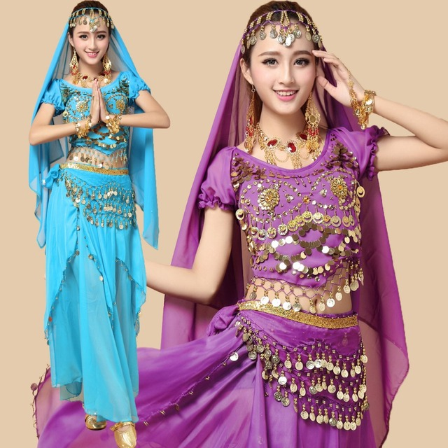 7 Teile/satz Neue Ankunft Bauchtanz Kostüme Frauen Oriental India ...