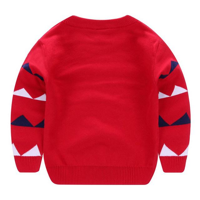 Nueva Niños suéter hecho punto invierno infantil de dibujos animados bebé dinosuar patrón Top Niñas punto prendas para 2-7y niños