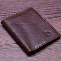 Новое Прибытие мужская 100% Натуральная Кожа бумажник глава коровьей кошелек большой емкости trifold многофункциональный держателя карты