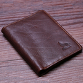 New Arrival Men's 100% Genuine Leather wallet head cowhide purse big capacity trifold multi-function card holder