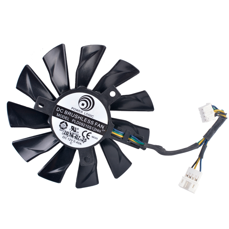 Original PLD09210S12HH gtx1060 gtx1070 gtx1080 4-wire graphics card cooling fan image