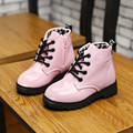2016 Winter Fashion Autumn Children Leather Boots Kids High Quality Martin Boots Snow Boots For Girls Boys Motorcycle Boots