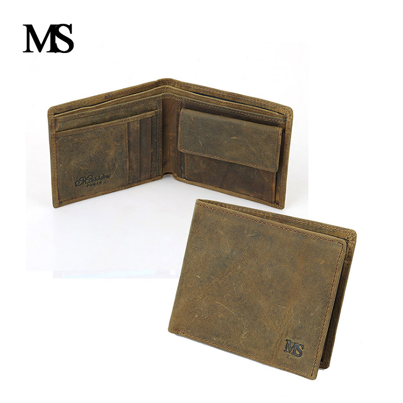 Real Leather Wallet Men Organizer Wallets Brand Vintage Genuine Leather Cowhide Short Men's Wallet Purse With Coin PocketTW0751- wireless cordless digital doorbell remote door bell chime waterproof eu us uk au plug 110 220v
