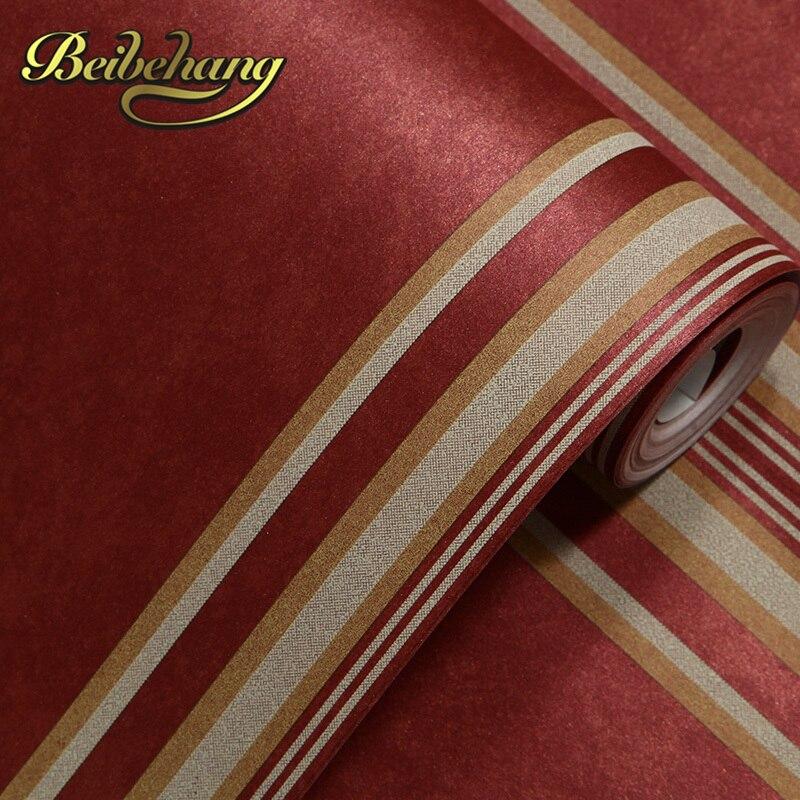 Beibehang 3d non-tissé papier peint chambre salon mural rayé fond décoration de la maison, papel de parede sala, papier peint 3d
