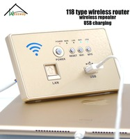 118 type usb socket wall embedded wireless ap router phone with glod Color