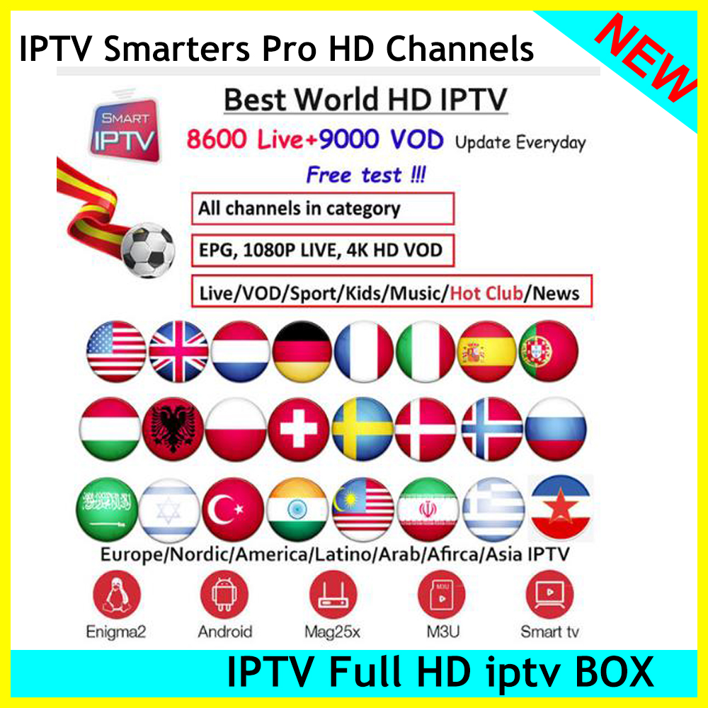 Beautiful Iptv Channels 5000 Home Audio & Video World Iptv Subscription Poland Switzerland Spain Uk European American Ex-yu For Android Smart Tv Box Mag Box Tv Receivers