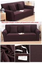 New style jacquard knit sofa cover all inclusive simple modern sofa cover anti – skid universal sofa cover  for S 1seat