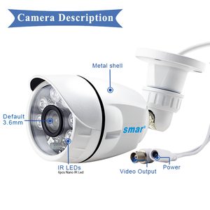 Image 4 - Smar 720P 1080P AHD Camera  Wide View AHDH  Security Camera  Outdoor Waterproof With 36PCS Infrared LEDS Day& Night Surveillance