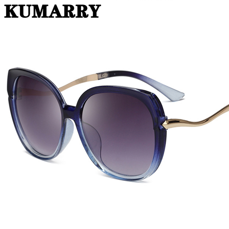 KUMARRY Oversized Cat Eye Sunglasses Women Elegant Brand Designer Sun Glasses Female Driving Outdoor Oculos De Sol Gafas UV400(China)