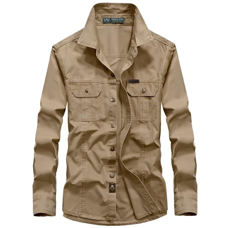 Camisa de combate de los hombres U.S Camisa militar AFS JEEP Marca - Ropa de hombre - foto 2